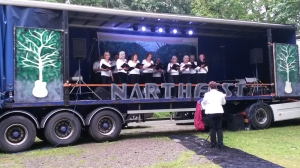 The Narth Singers on Saturday afternoon