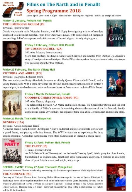 Spring 2018 Film List