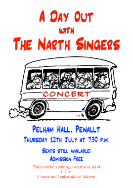 Narth Singers Summer 2018