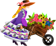 wheelbarrow lady