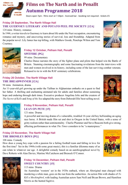 Autumn 2018 Film List v2
