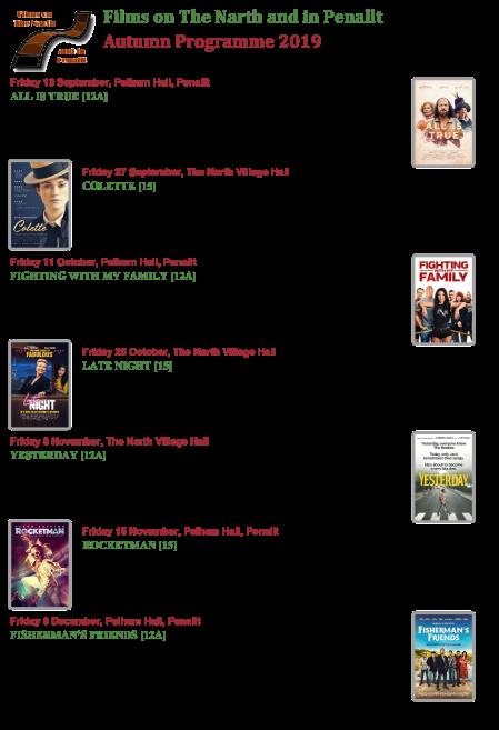 Autumn 2019 Film List